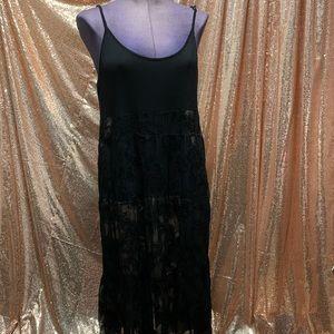NWOT Pol Lace Dress L floor length casual coverup